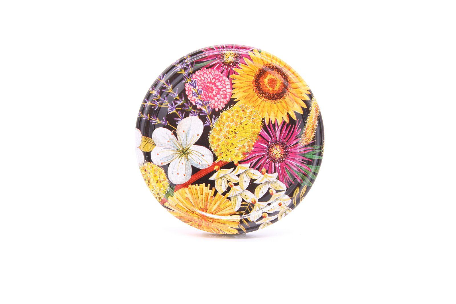 Blumendekor gelb TO-Verschluss  Ø 82 mm