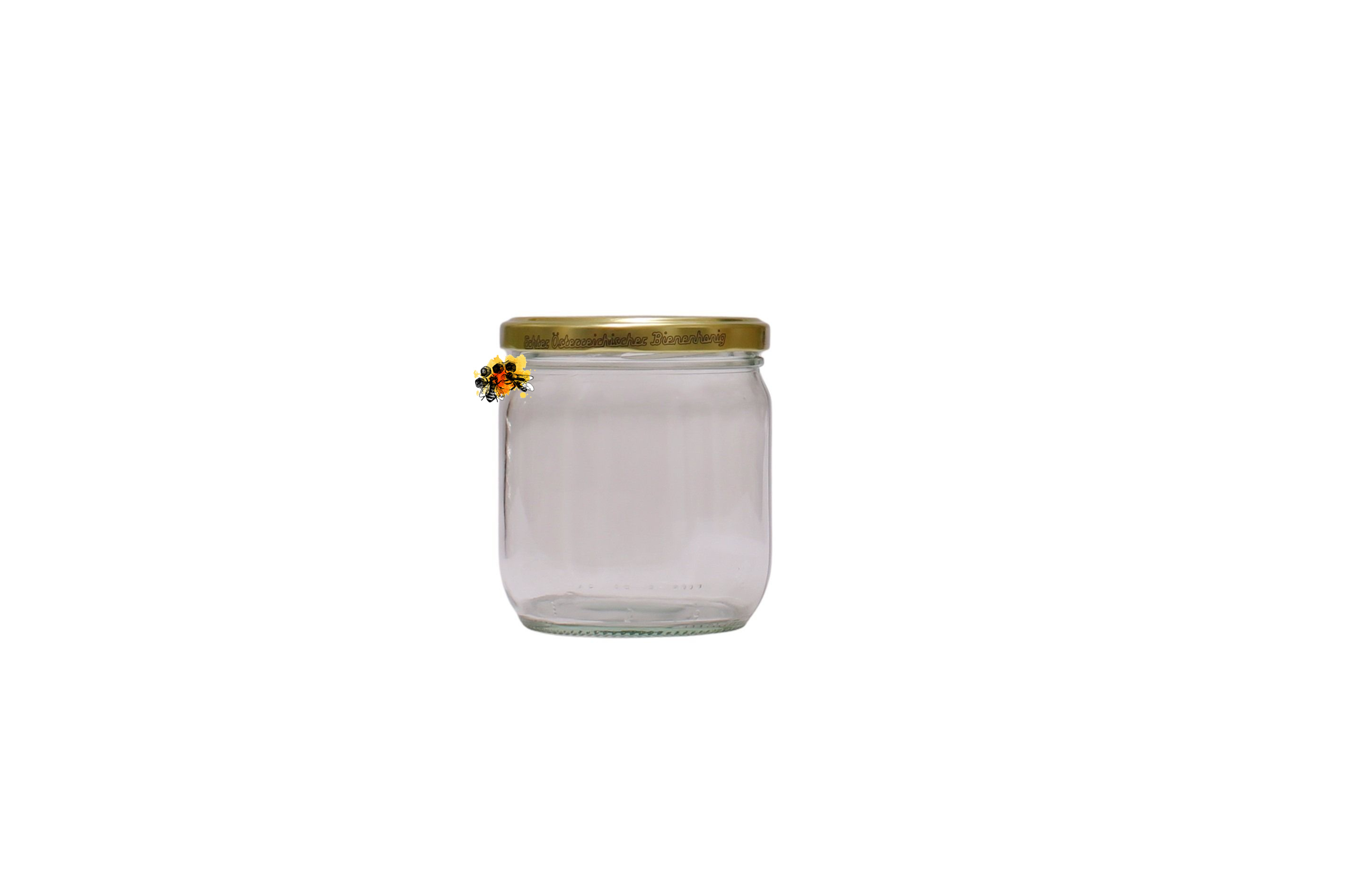 Honigglas 0,5kg  neutral inkl. Deckel