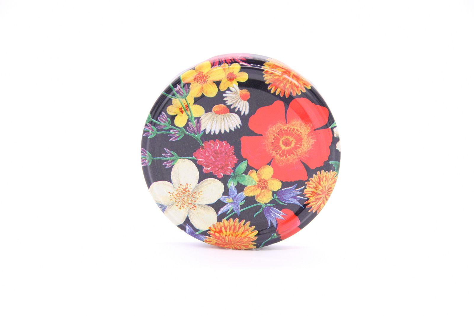 Blumendekor rot TO-Verschluss  Ø 82 mm